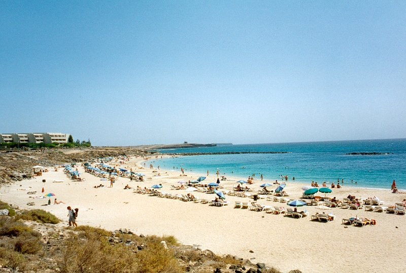 Lanzarote Pictures Page. Playa Blanca beach